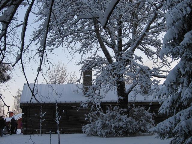 Vacker bild av gård...