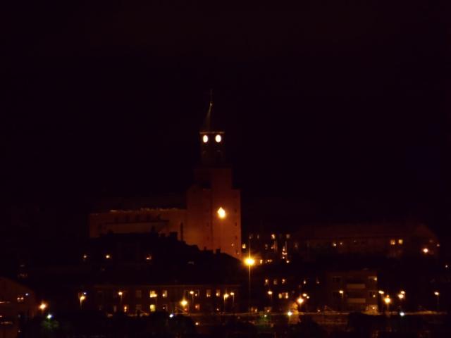 Natt i Östersund, kyrkan...