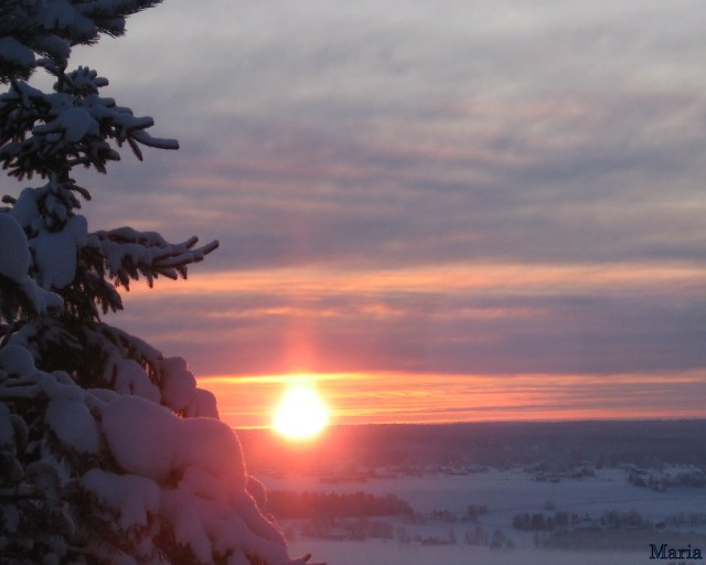 Vinterbild, utsikt 3,3,3...