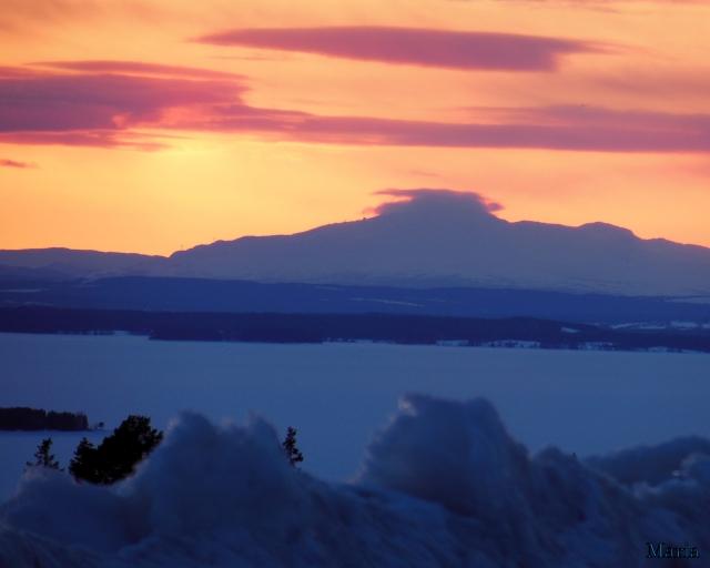 Solnedgång, fjäll 2, 2...